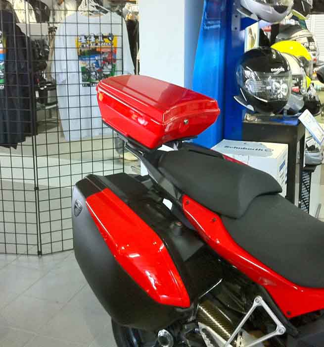 The TailGunner Ducati Top Case Multistrada 1200 Red